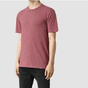 All Saints Men's Rose Red Short Sleeve T-Shirt